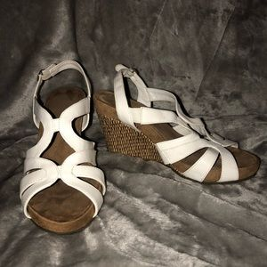 Aerology by Aerosoles White and Cork Wedges